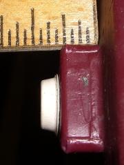 Floor lamp foot with bumper