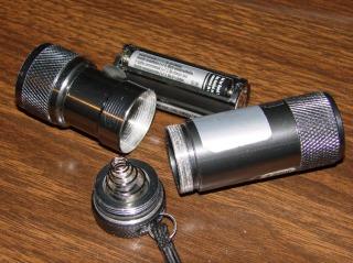 Disassembled LED Flashlight