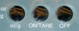 Kitchen scale - cracked buttons