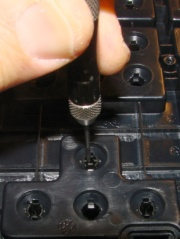Pin punch in keycap stem
