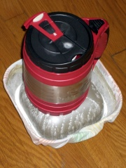 CO2 mug and powder trap