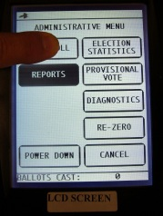 Voting machine LCD miscalibration - Open Poll