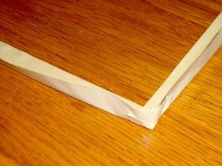 Tape barrier on floor