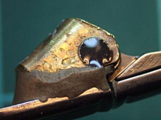 Sunglass hinge screw - epoxy