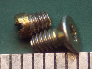 Spectrometer screw vs standard thread