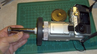 Spectrometer mounted on camera