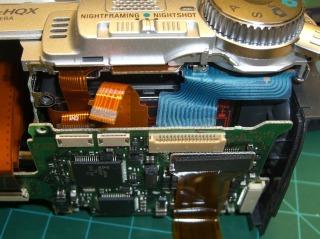 DSC-F717 main board cables - top