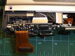 DSC-F717 main board cables - bottom
