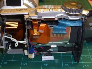 DSC-F717 Memory Stick socket - exposed