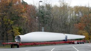 Wind turbine blade - side view
