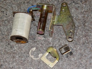 Disassembled relay parts