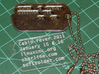 Cabin Fever Dog Tag