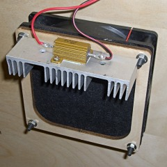 Fan filter and 5 V dummy load