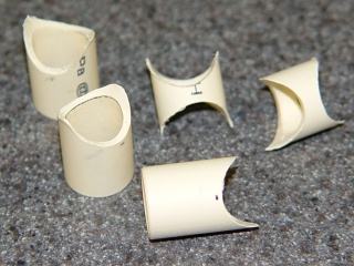 Fishmouthed tube connectors