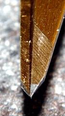 Fiskars scissors tip detail