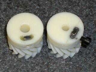 Herringbone gears with nut inserts