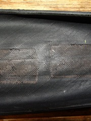 Schwalbe Maration tire with liner abrasion