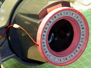 Microscope LED Ring light - snout view