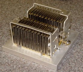 CPU heatsink on aluminum spreader
