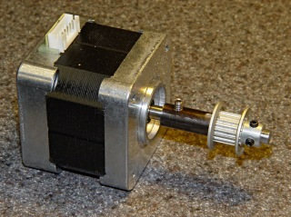 Y axis motor shaft extension