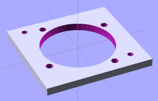 Fan Adapter Plate Model