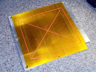 Test X extrusion pattern