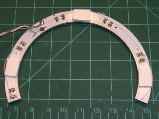 LED ring light with gap