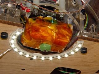 LED ring light installed