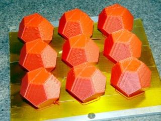Dodecahedra - 50 mm per sec