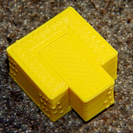 Perimeter Calibration Block - yellow 1.10 rpm 0.33 0.66 mm