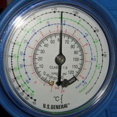 Harbor Freight AC Low Pressure Gauge