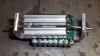 Pololu stepper board - heatsink top view