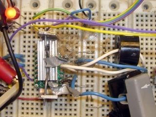Detonated electrolytic cap
