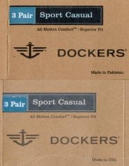 Dockers sock labels - front