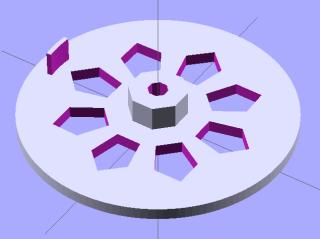 Synch wheel solid model