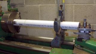 Turning spool axle