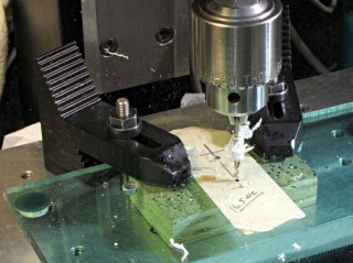 Drilling opto switch post holes