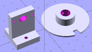 Wheel and post solid model