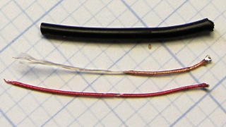 Broken headphone conductor - detail
