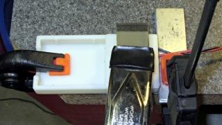 Gluing pin assemblies