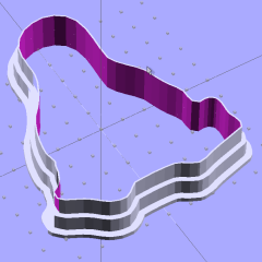 Tux Cookie Cutter - solid model