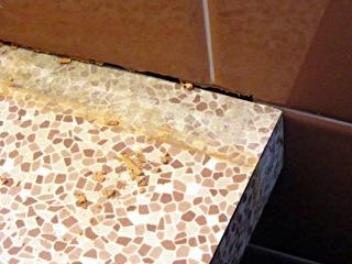 Extracted vanitory countertop