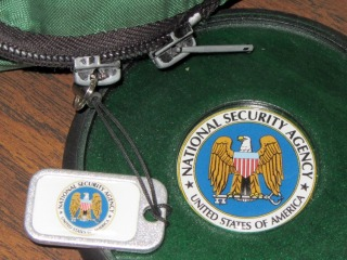NSA tag and coaster