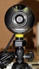 Logitech ball camera on tripod