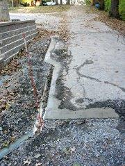 Driveway drain concrete