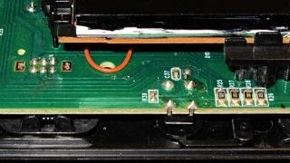 RCA clock - DIM switch and resistors