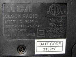 RCA clock - data plate