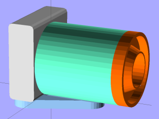 LED Ring mount - solid model