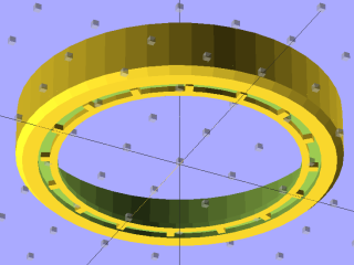 Lens cap - solid model - bottom view