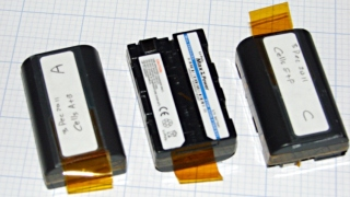 Rebuilt NP-FS11 batteries